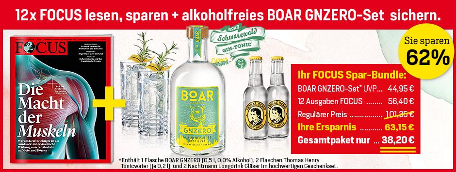 12 x FOCUS + BOAR GNZERO für 38,20 €
