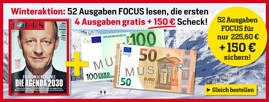 FOCUS Winteraktion 4 Ausgaben gratis - Februar 2020