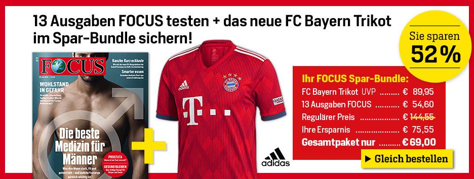 FOCUS + Bayern-Trikot Sparpaket  für 69 €