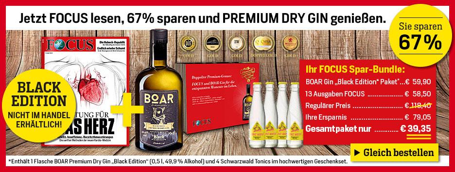 FOCUS + Boar Gin Black für 39,35€