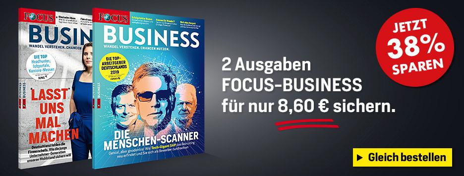FOCUS-BUSINESS 2 Ausgaben testen