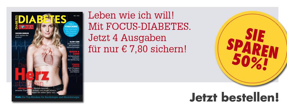 FOCUS-DIABETES 4 für 2 - 50% Sparen