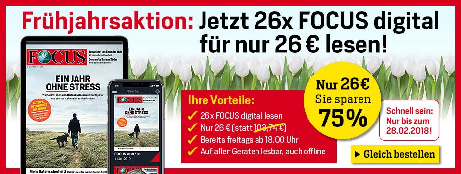 FOCUS Digital 26 Ausgaben für 26 Euro