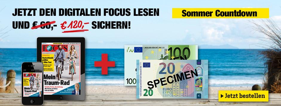 FOCUS digital lesen + 120 € sichern