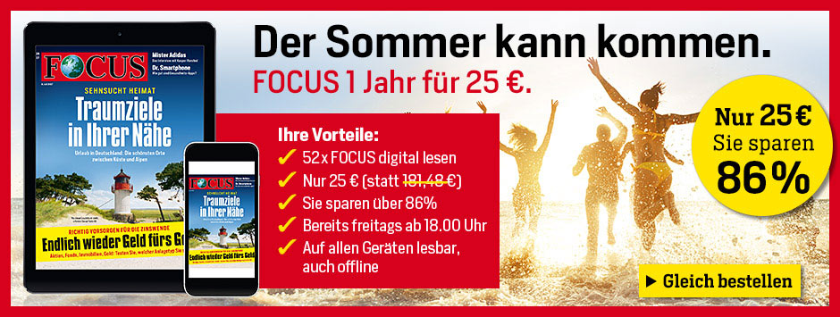 FOCUS digital für 25 € testen