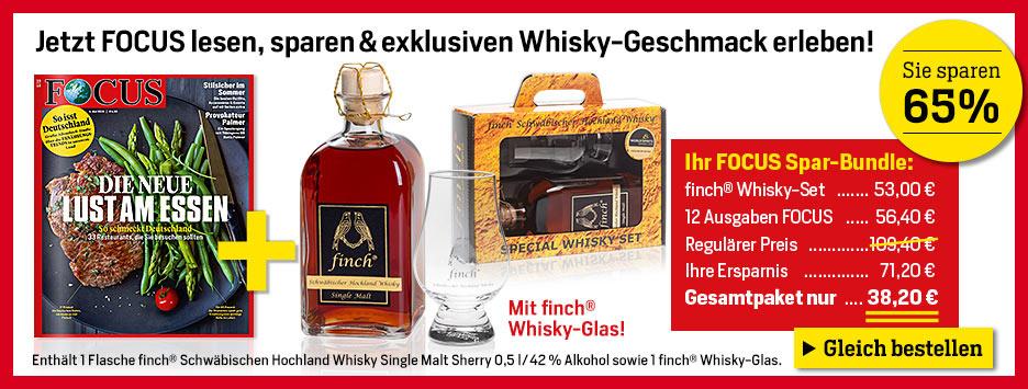 FOCUS Mini-Abo + finch Whisky Set