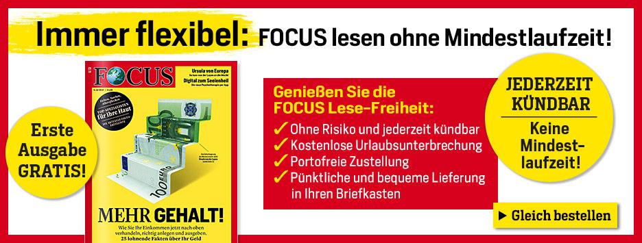FOCUS Flex-Abo Print + 1 kostenlose Ausgabe