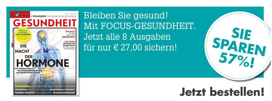 FOCUS-GESUNDHEIT - 8 für 4  Jetzt 57% Sparen