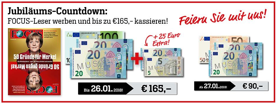 25 Jahre FOCUS Jubliläums-Countdown - 165 €