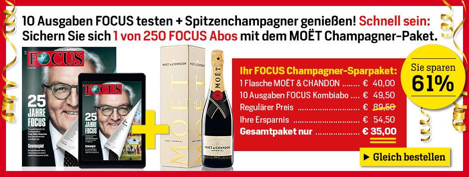 FOCUS testen + Moet Champagner genießen!