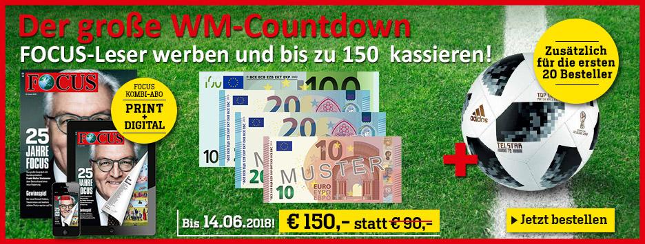 FOCUS Kombi - Der große WM-Countdown