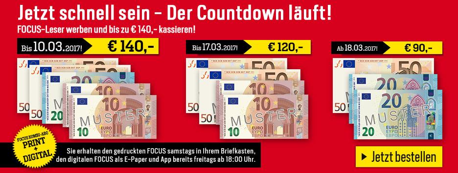 FOCUS Leser werben + 140 € sichern