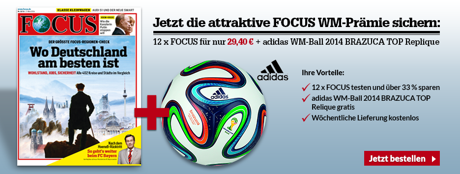 FOCUS Mini-Abo + Adidas WM Ball