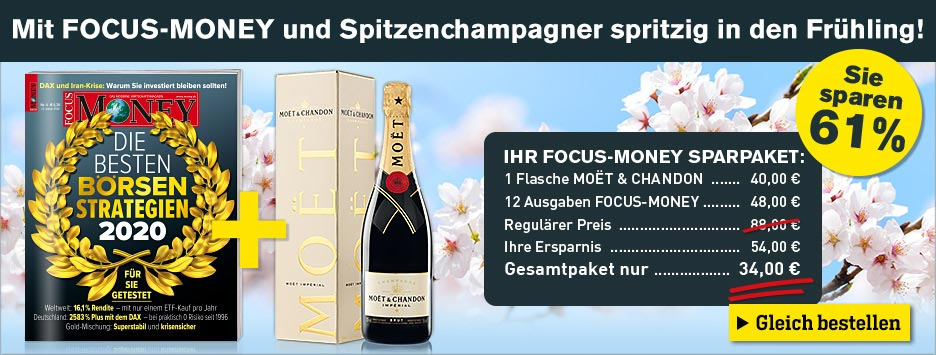 FOCUS-Money 13 Ausgaben Miniabo - Moet Champagner