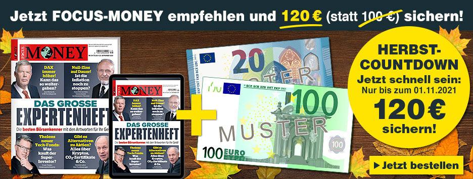 FOCUS-Money Kombi Countdown + 120 € Scheck