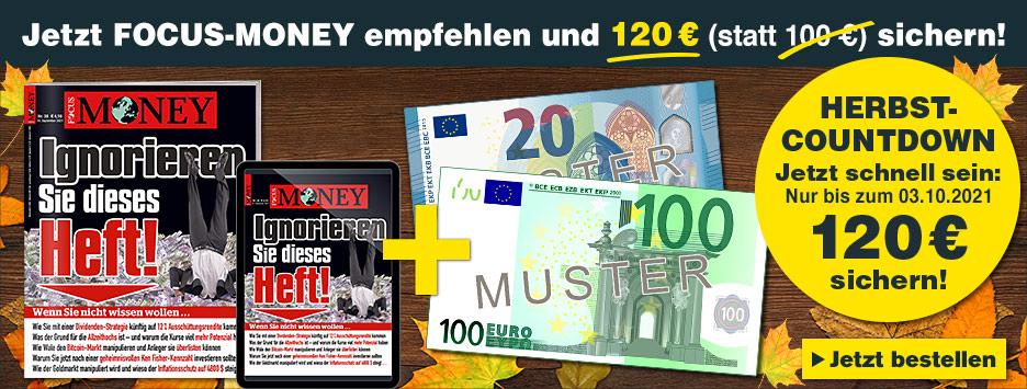 FOCUS-MONEY Kombi-Abo + 120 Scheck