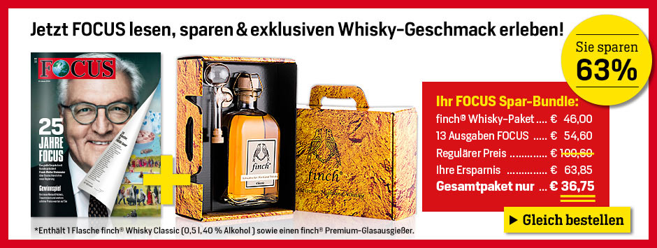 FOCUS Spar-Bundle + finch Whisky-Paket