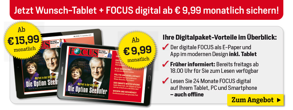 FOCUS Digital Bundling mit Tablet