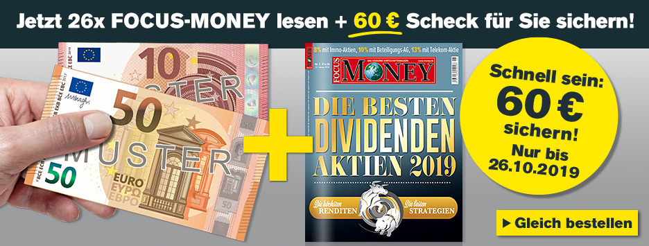 FOCUS Halbjahresabo + 60€ Scheck sichern!