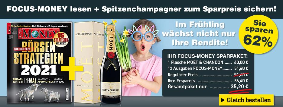 FOCUS-Money 12 Ausgaben Miniabo - Moet Champagner
