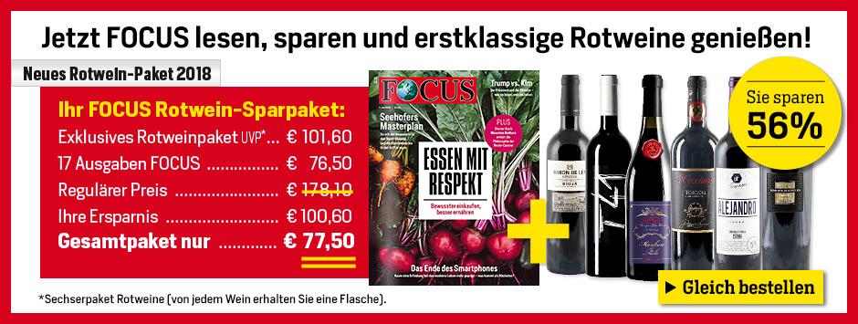 FOCUS - Rotweinpaket 2018