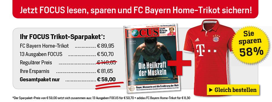 FOCUS Sparpaket adidas FC Bayern Home Trikot
