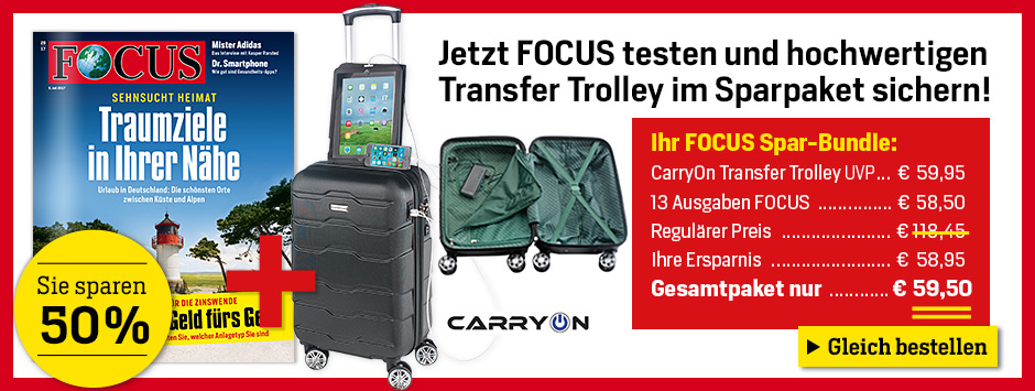 FOCUS Sparpaket mit CarryOn Transfer Trolly
