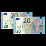 40 EUR Verrechnungsscheck