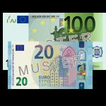 120 € Verrechnungsscheck