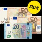 120 EUR Verrechnungsscheck.