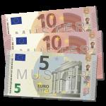 25 EUR Verrechnungsscheck