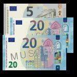 45 EUR Verrechnungsscheck