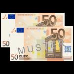 100 € Verrechnungsscheck