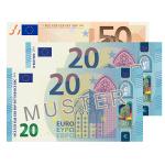 90 EUR Verrechnungsscheck