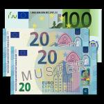 140 EUR Verrechnungsscheck