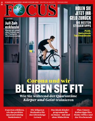 FOCUS - CORONA UND WIR - BLEIBEN SIE FIT - aktuelle Ausgabe 15/2020