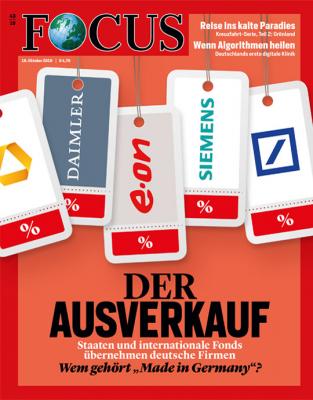 FOCUS - Der Ausverkauf - aktuelle Ausgabe 43/2019