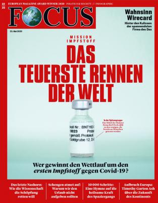 FOCUS - DAS TEUERSTE RENNEN DER WELT - aktuelle Ausgabe 22/2020