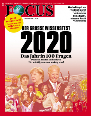 FOCUS - DER GROSSE WISSENSTEST 2020- aktuelle Ausgabe 50/2020