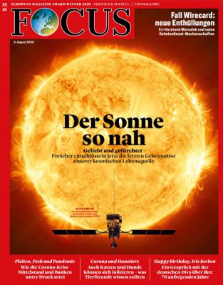 FOCUS - DER SONNE SO NAH - aktuelle Ausgabe 33/2020