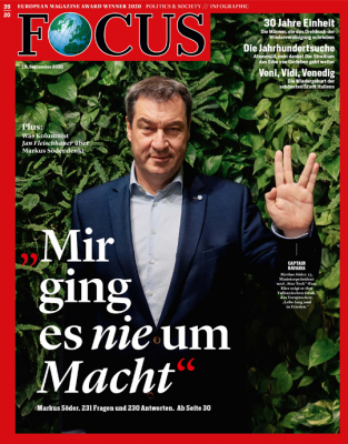 FOCUS - MIR GING ES NIE UM MACHT - aktuelle Ausgabe 39/2020