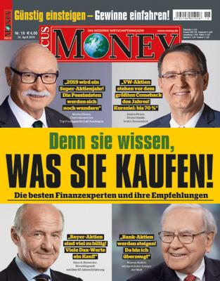 FOCUS-MONEY - aktuelle Ausgabe 18/2019