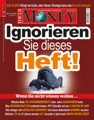 FOCUS-MONEY - aktuelle Ausgabe 30/2019
