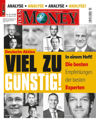 FOCUS-MONEY - aktuelle Ausgabe 42/2019