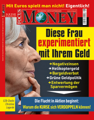 FOCUS-MONEY - aktuelle Ausgabe 46/2019
