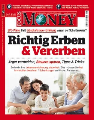 FOCUS-MONEY - aktuelle Ausgabe 49/2014