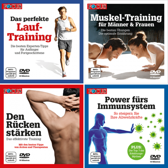FOCUS | DVD-Set: Laufen-Muskeln-Rücken- Immunsystem | Offizieller ...
