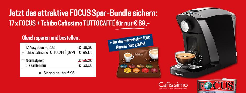 Focus focus tchibo cafissimo tuttocaff sparpaket for Tchibo offenburg