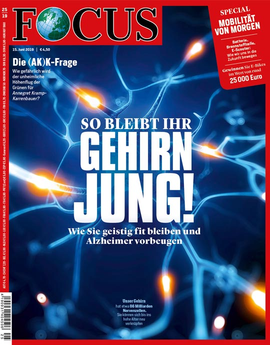 FOCUS - SO BLEIBT IHR GEHIRN JUNG - aktuelle Ausgabe 25/2019