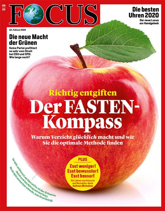 FOCUS - Der FASTEN-Kompass - richtig entgiften - aktuelle Ausgabe 09/2020